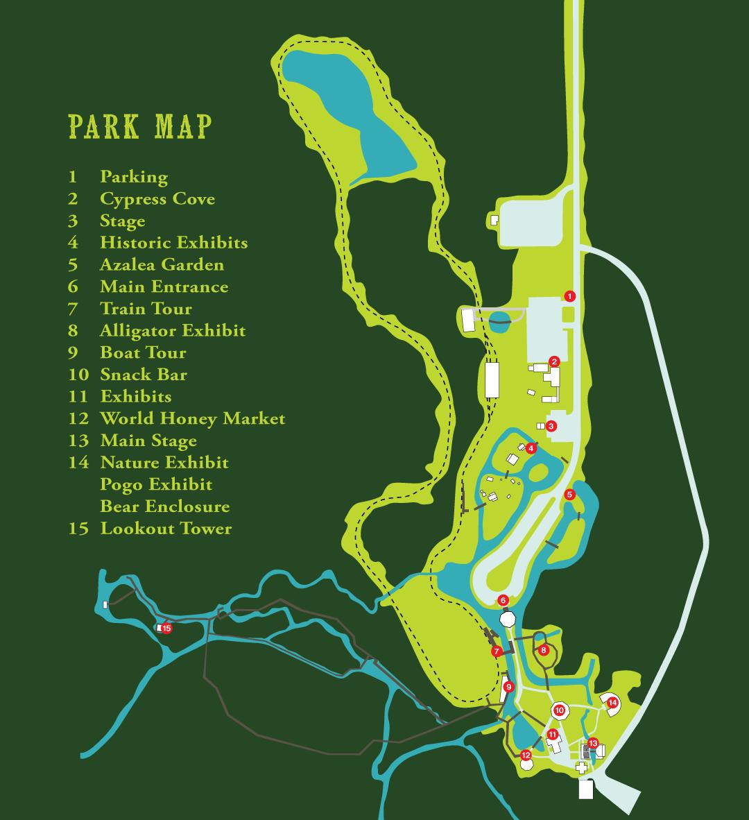 Okefenokee Adventures Map