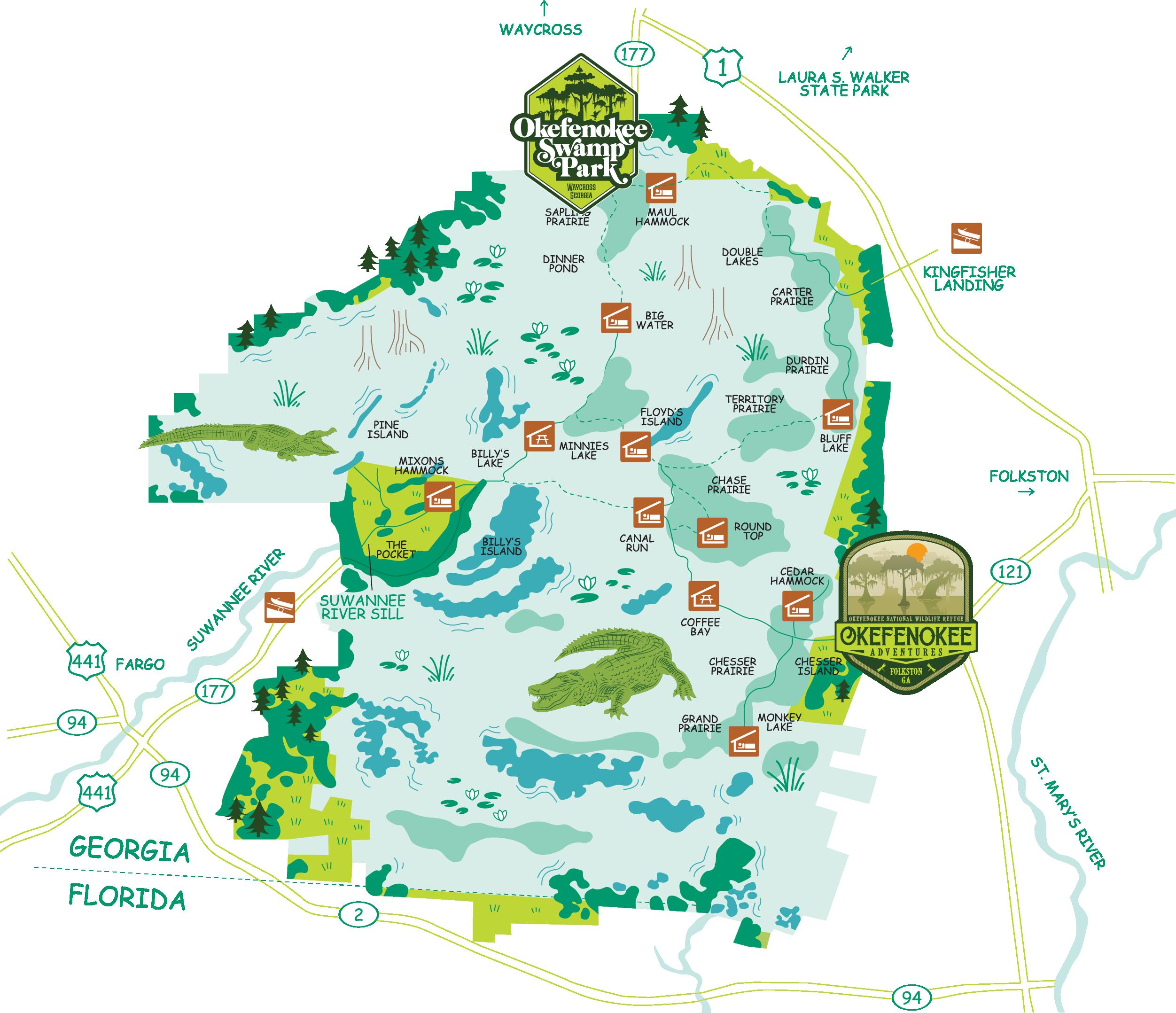 Okefenokee Swamp Map